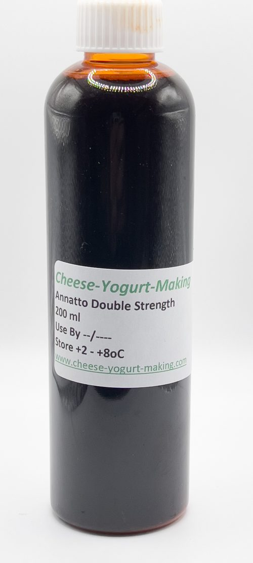 200ml bottle of annatto cheese colouring